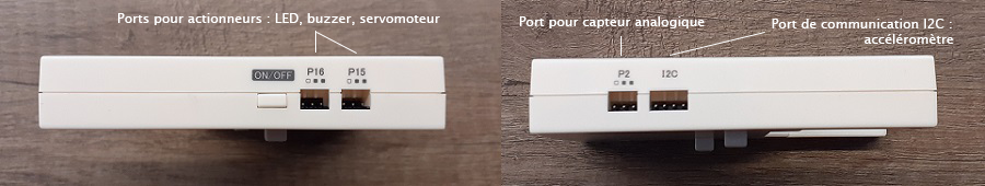 ports de l'extension de la carte ESPeRobo