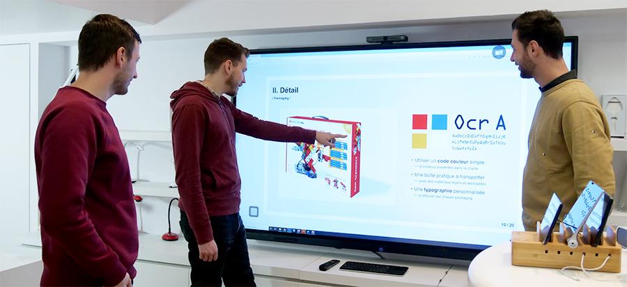 ecran tactile superglass speechitouch pour le maquettage produit