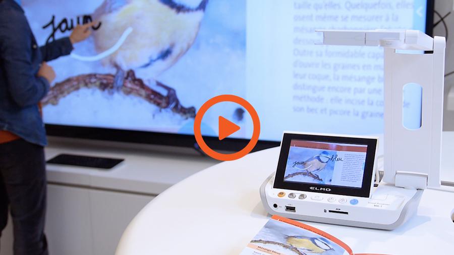 vidéo de présentation du visualiseur android ELMO pour l'école