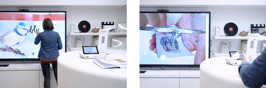 mirorring et réalité augmentée sur visualiseur android ELMO