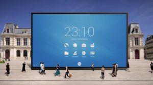 un écran interactif 98 pouces pour visioconférences