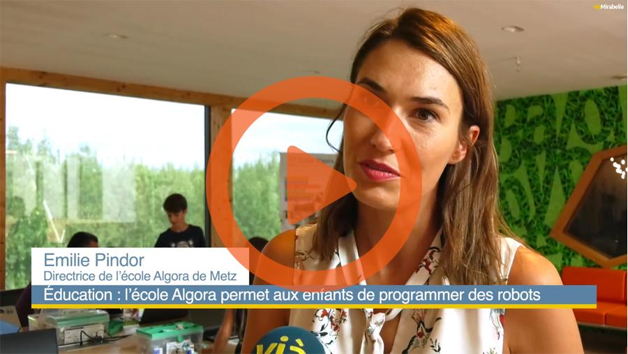 Reportage vidéo des cours de programmation Algora Metz