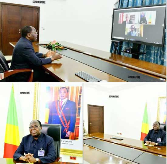 ecran interactif congo ministre
