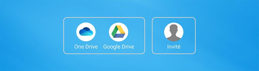 Le Drive intégré sur l'interface Android de votre écran interactif SpeechiTouch