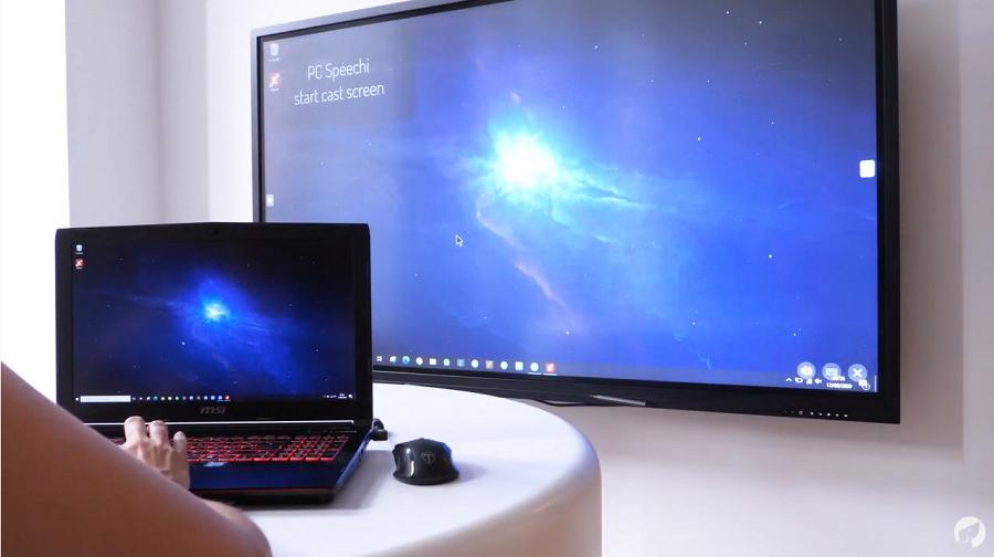 Le partage d'écran d'un PC sur un écran tactile avec EShare