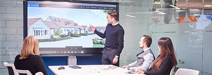 ecran interactif clervertouch visioconference collaboratif