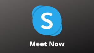 logiciel Skype Meet Now
