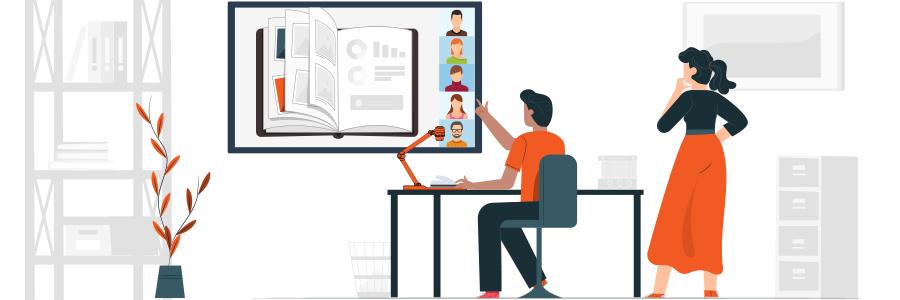 visioconférence écran interactif visualiseur
