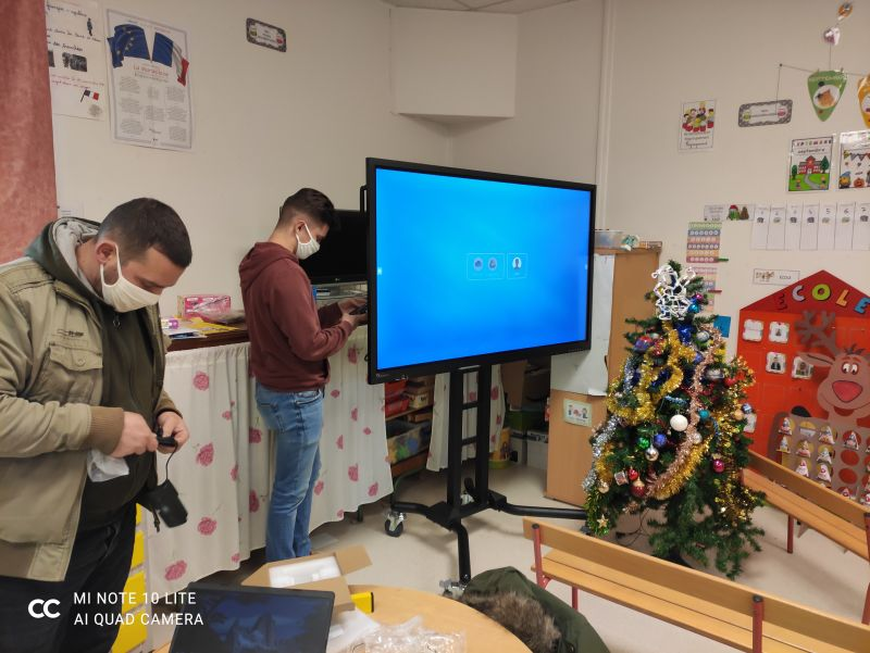 écran interactif Noël