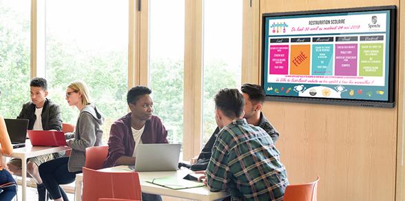écran affichage dynamique secteur education