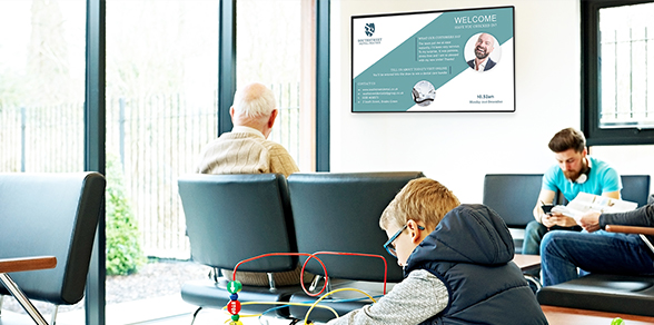 écran affichage dynamique secteur Hôpitaux