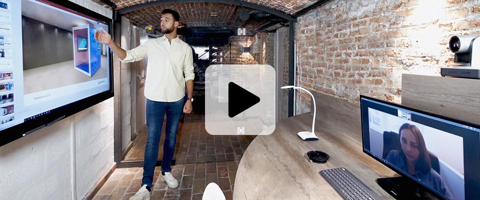 Demo à distance ecran interactif