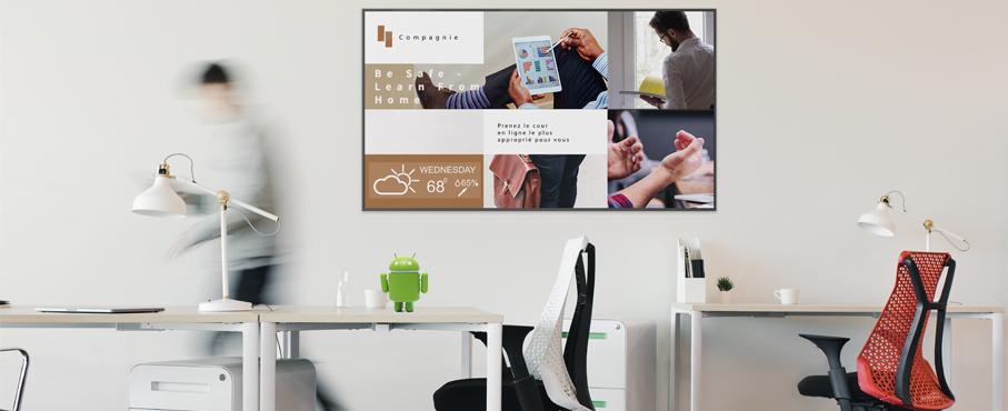 écran affichage dynamique android