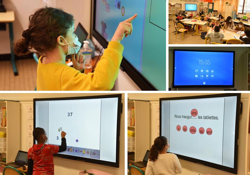 ecran interactif école élémentaire et maternelle