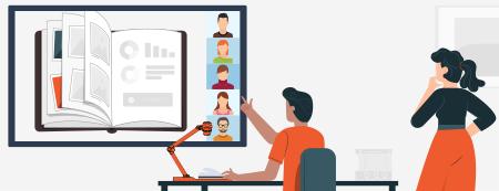 visualiseur visioconférence travail collaboratif