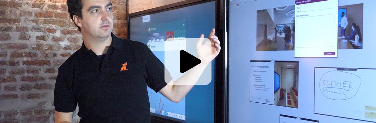 formation écran interactif outils collaboratif